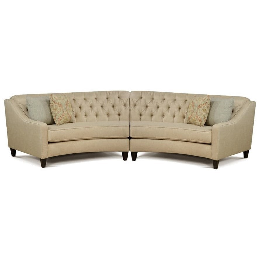 thayer coggin clip sofa button leather curved sectional couches home ideas