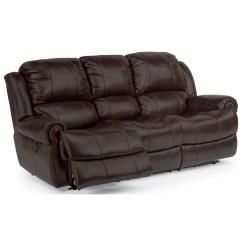Flexsteel Capitol Double Reclining Sofa Lack Table Shelf Height Power Energywarden