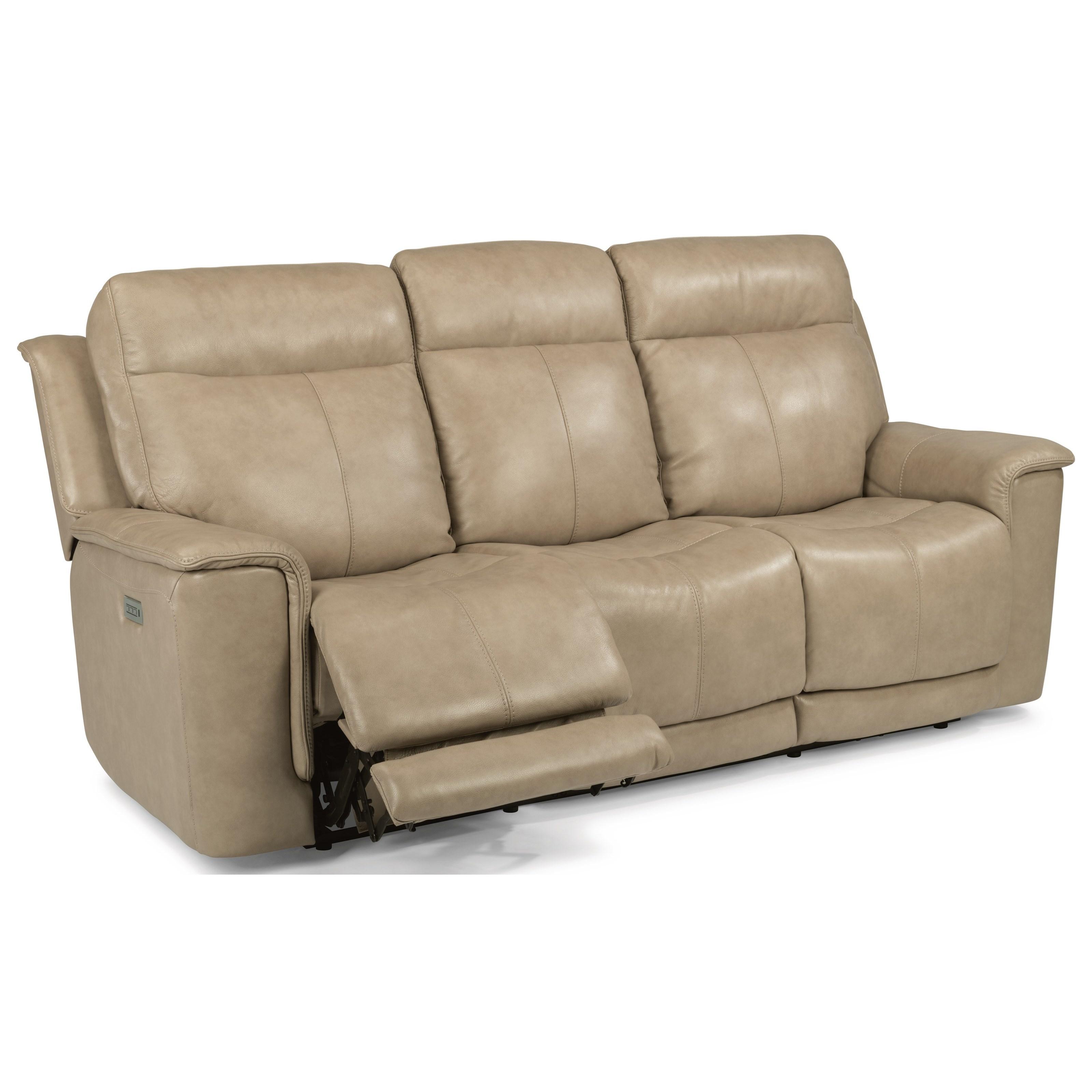 flexsteel julio reclining sofa convertible in french recliner living room field