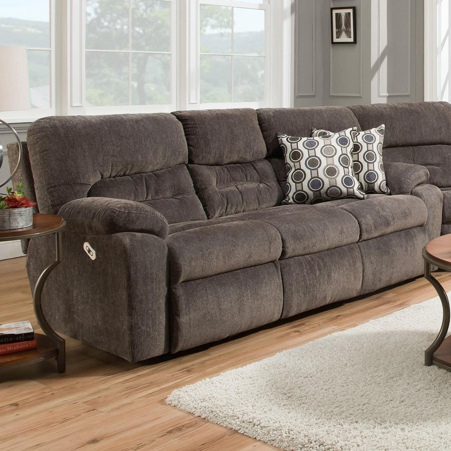 double reclining sofa with fold down table puff foam franklin 73