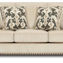 Sofa Nailhead Round Couch Sleeper Simple Cool