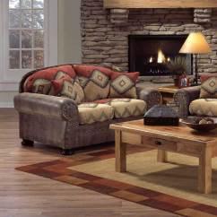 Bargain Living Room Furniture Formal Layout Intermountain Navajo Southwest Style Loveseat ...