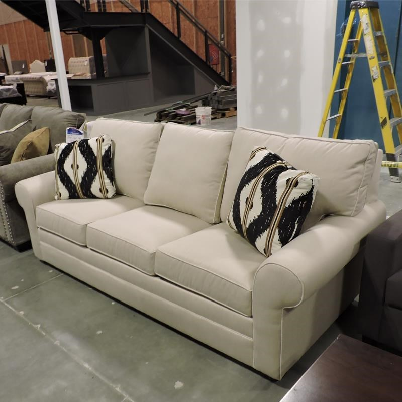 galileo cream microfiber queen sleeper sofa contrast piping tufted faux leather futon bed clearance furniture