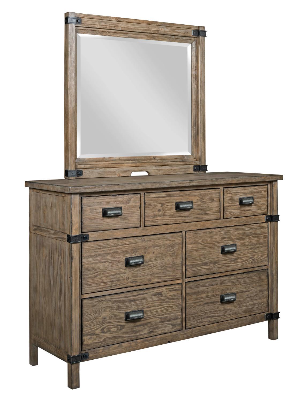 Kincaid Furniture Foundry Rustic Weathered Gray Bureau And