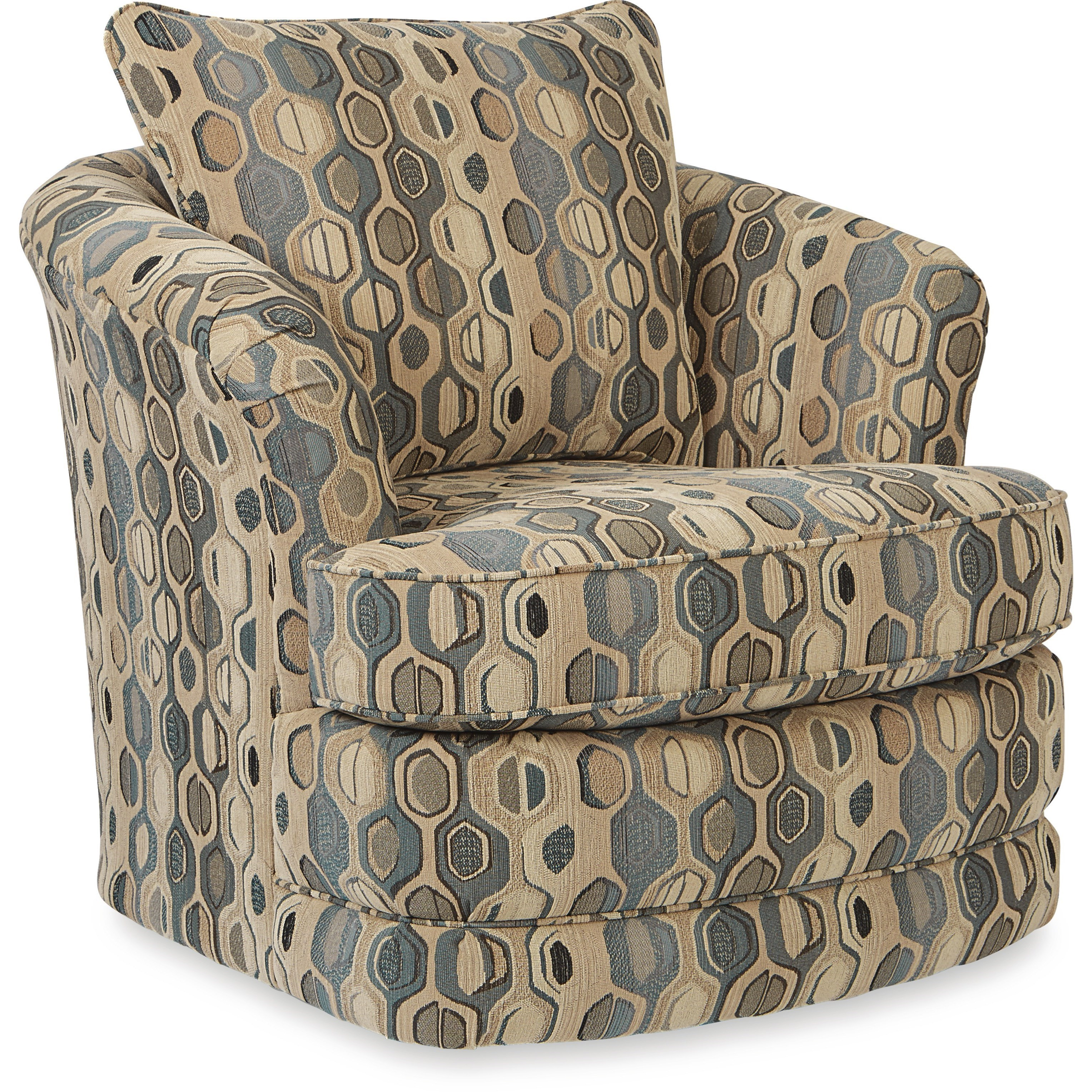 swivel chair inventor dark green patio cushions origin clay alder home tyler roma navy