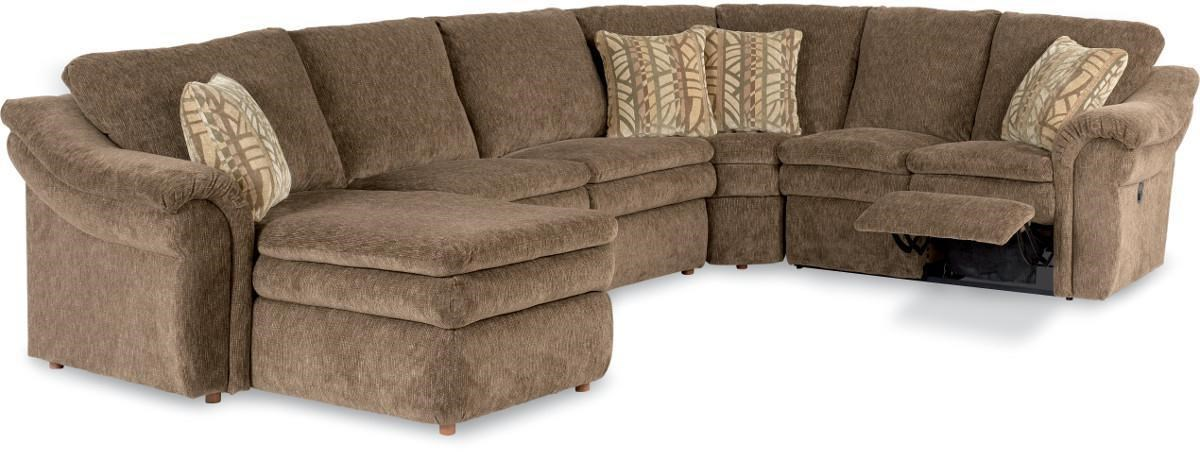 home theater reclining sectional sofa brown teal color scheme 4piece leather power recliner