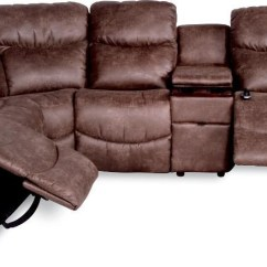 Caruso Leather 5 Piece Power Motion Sectional Sofa Grey Material Home Theater 4piece Recliner