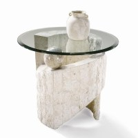Magnussen Home Ponte Vedra Contemporary Round Glass End ...