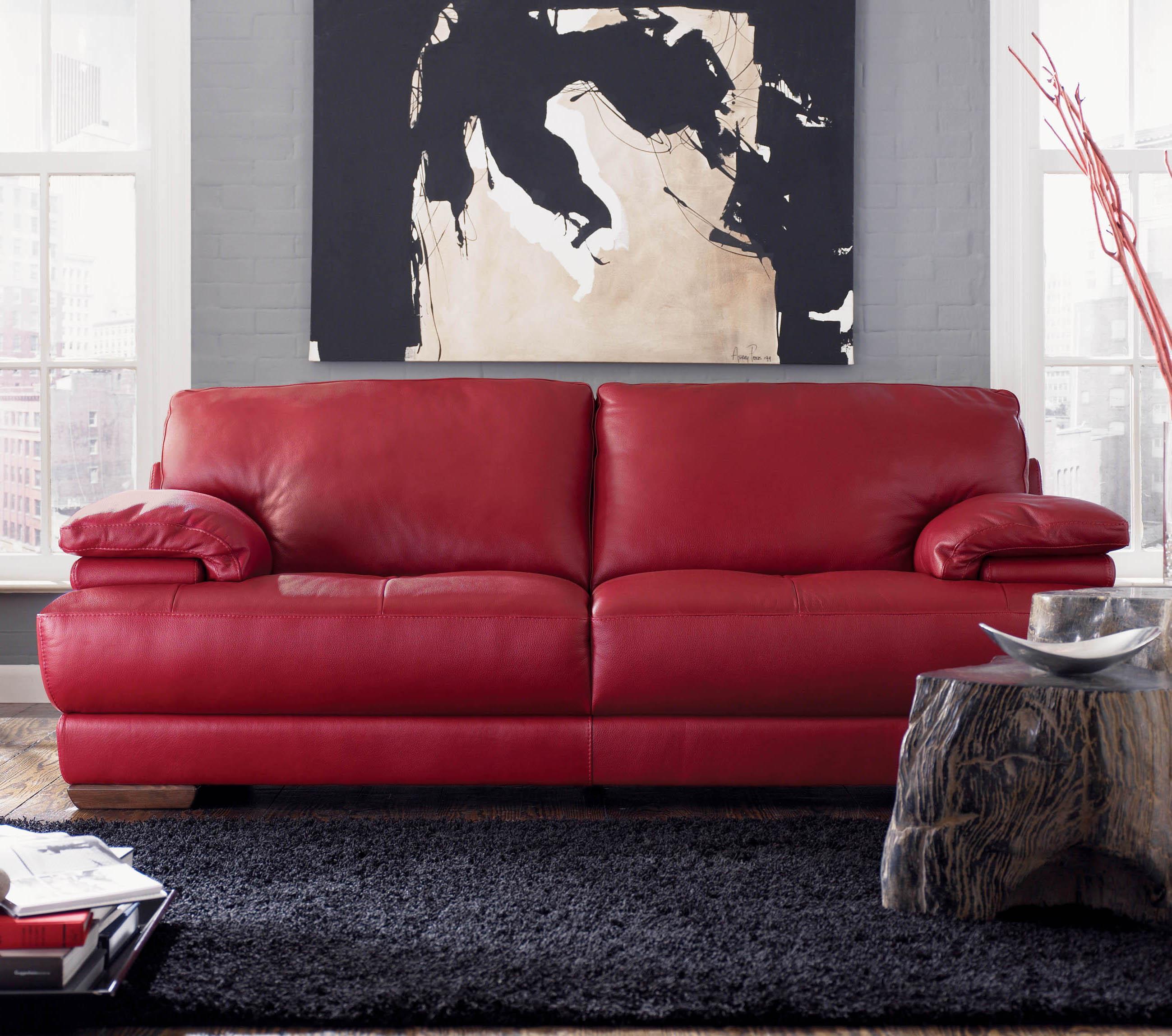 natuzzi red leather sofa and chair reading blackburn sofascore home textiles
