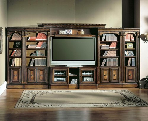 Entertainment Center Wall Unit In Supple Parker House