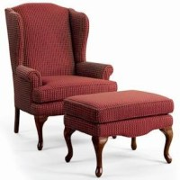 Sam Moore Annie Queen Anne Wing Chair and Ottoman ...