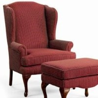 Sam Moore Annie Queen Anne Wing Chair - Darvin Furniture ...