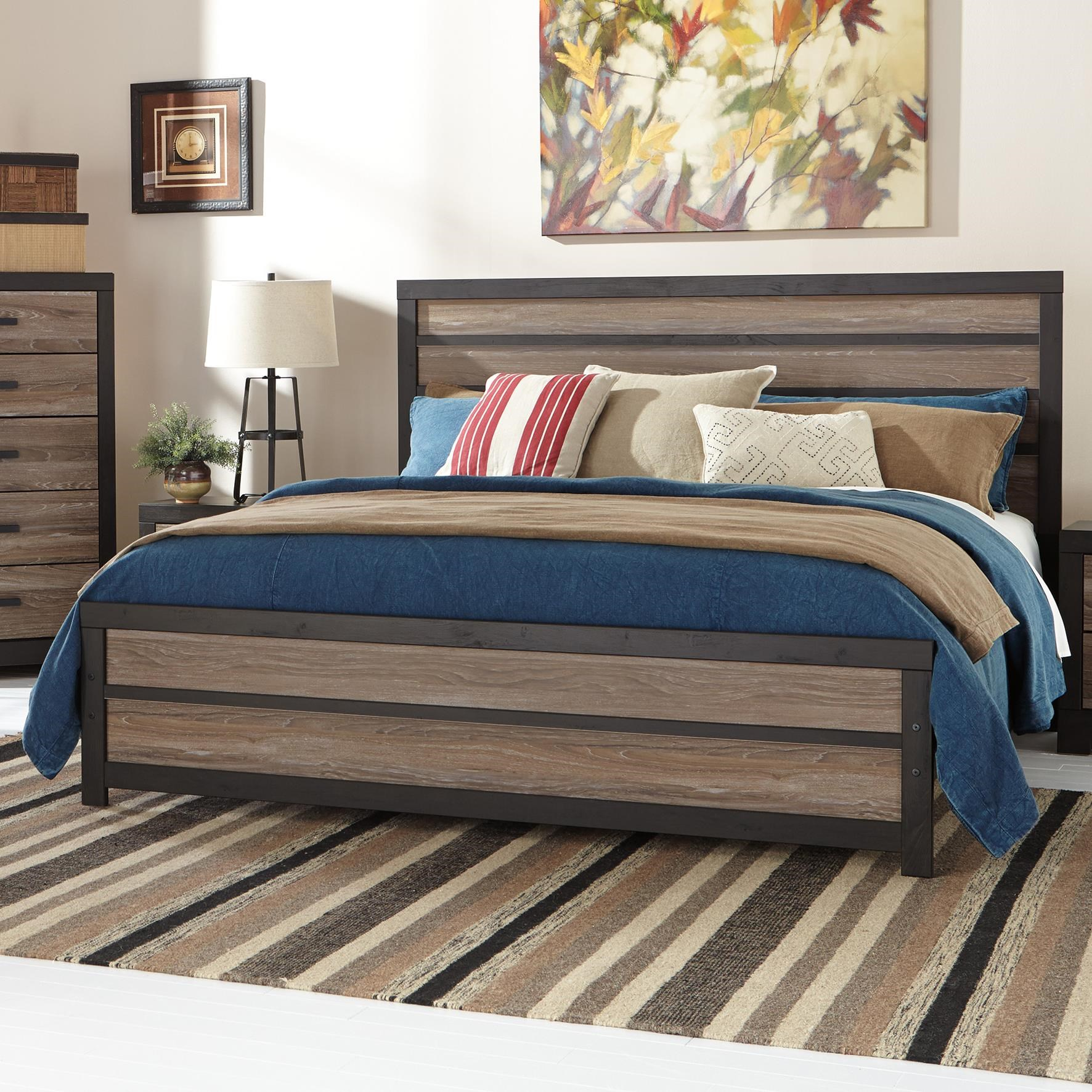 Signature Design By Ashley Harlinton Rustic King Panel Bed