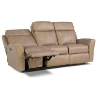 Smith Brothers 418 Motorized Reclining Sofa with Flared ...