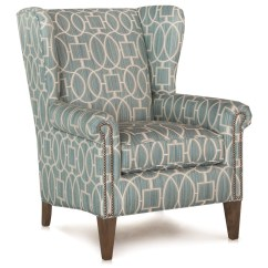 Alec Wing Chair Portable Picnic Wingback With Nailhead Trim Home Ideas