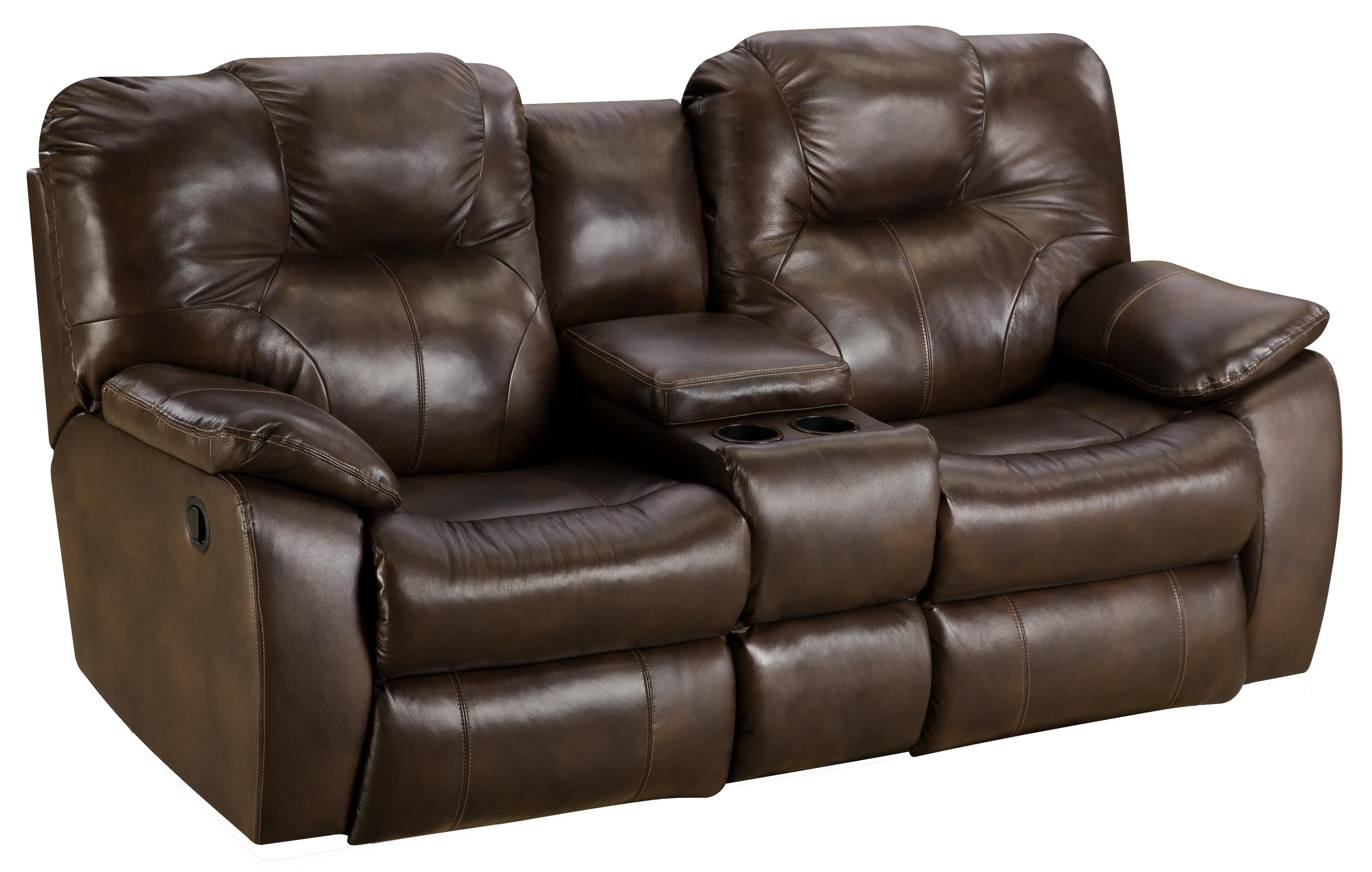 darrin leather sofa reviews value city furniture warranty with console newport 3 piece reclining ...