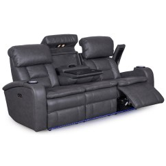 Double Reclining Sofa With Fold Down Table Consumer Reports Most Comfortable Sleeper Transformer Power Recliner W Drop Www