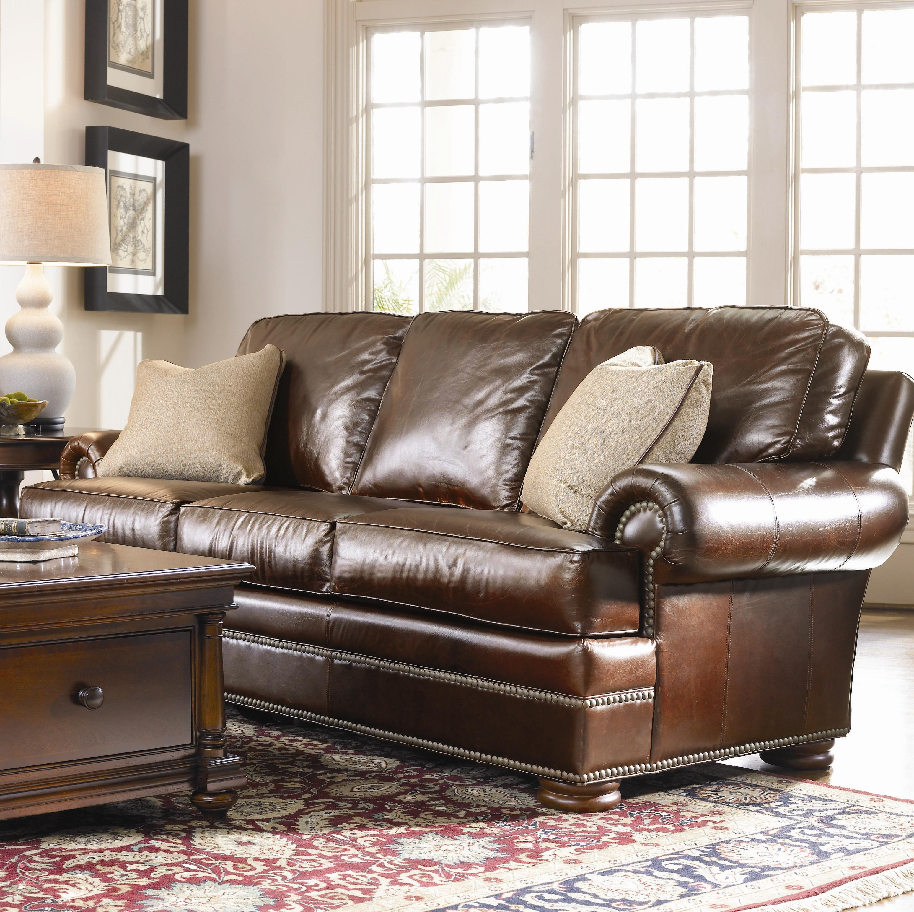 thomasville leather chair chairs that convert to beds ashby sofa home the honoroak