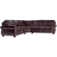 Thomasville Benjamin Leather Sofa Cushion Pillow Cases Double Fudge Energywarden