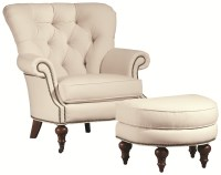 Thomasville Upholstered Chairs and Ottomans Vienna Tufted ...