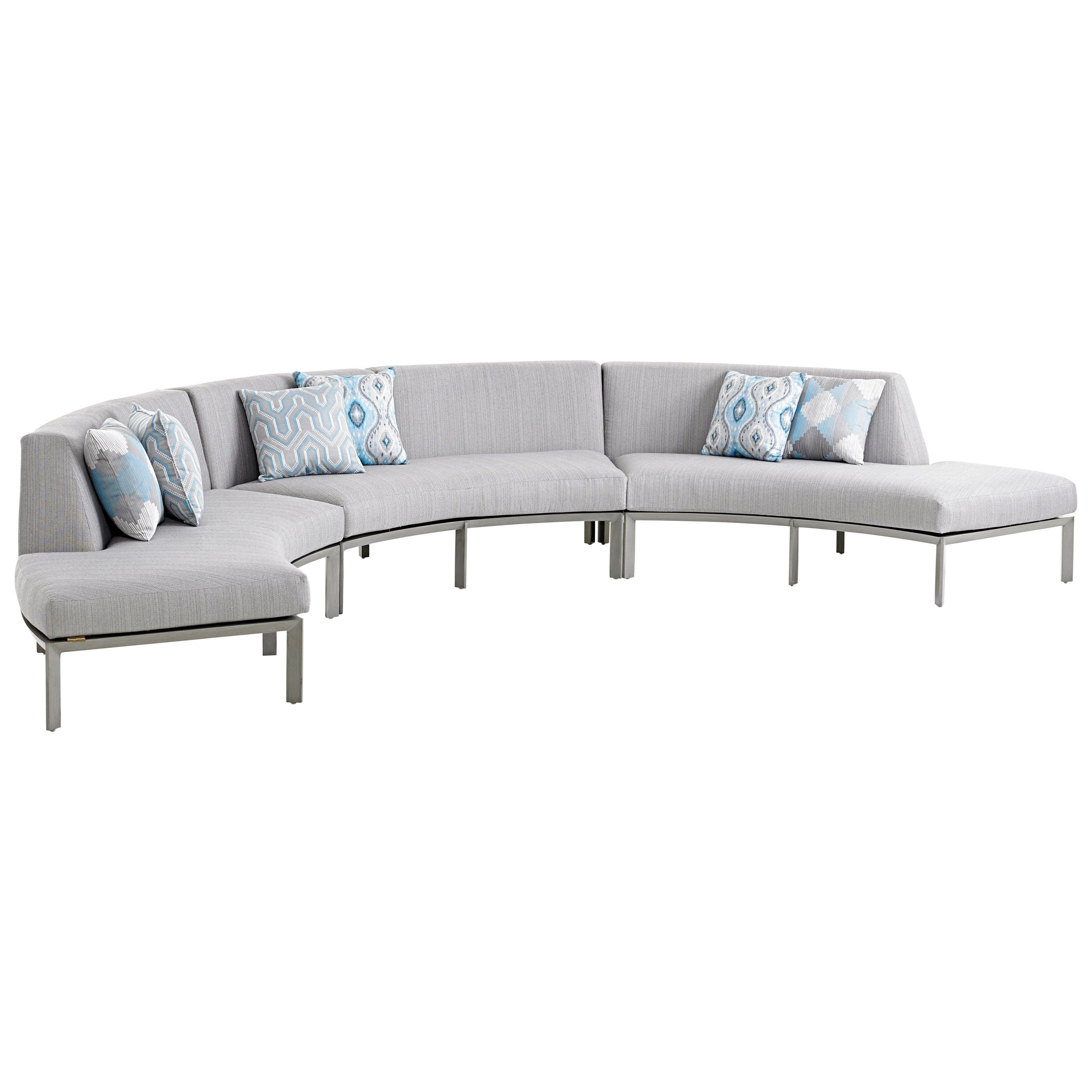 del mar custom sectional sofa leather with ottoman