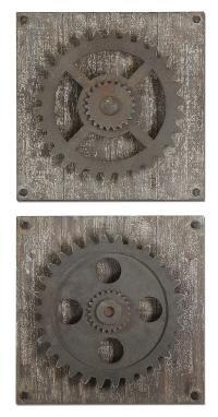 Uttermost Alternative Wall Decor Rustic Gears - Adcock ...