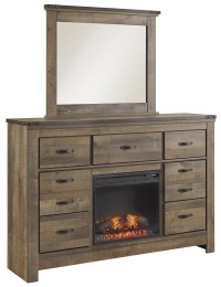 Signature Design by Ashley Trinell Rustic Look Dresser ...