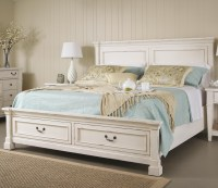 Folio 21 Stoney Creek King Panel Bed w/ Storage Footboard ...