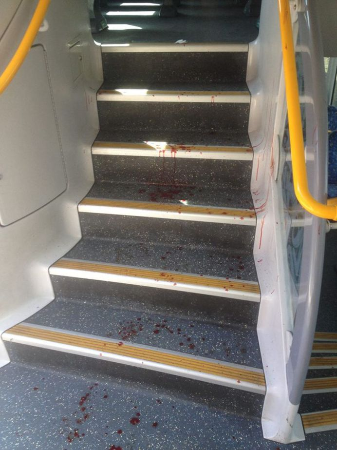 Several passengers onboard the train were unable to exit the carriage without the assistance of paramedics (Supplied).