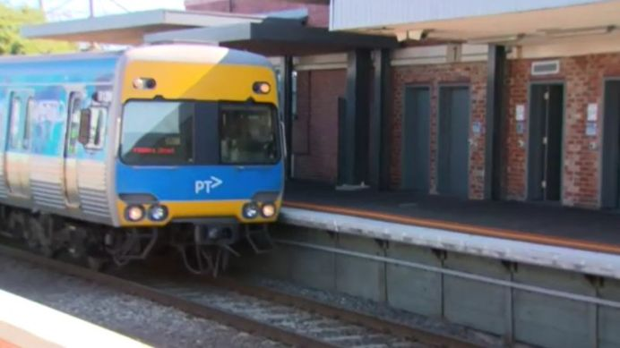 The incident unfolded at Carrum station. (9NEWS)