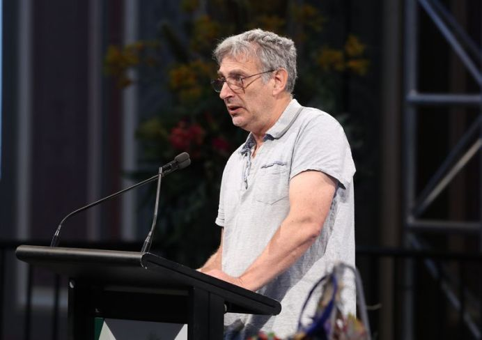 Tony Hakin spoke about his daughter at the memorial in Melbourne today. (AAP)