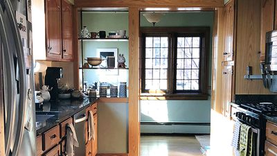 kitchen facelift tall island a two weekend no reno you can do for under 800