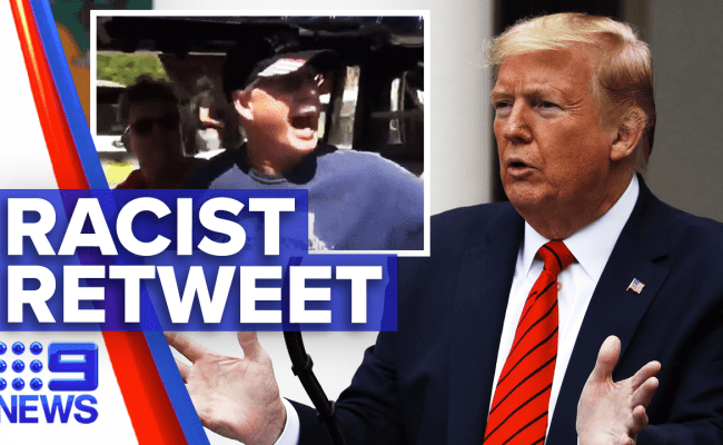 Trump Under Fire For Reposting Racial Video 9news Latest