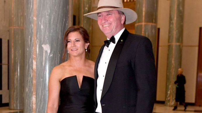 Mr Joyce and his estranged wife Natalie. (AAP)
