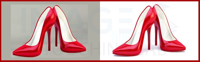 red shoe shadow creation