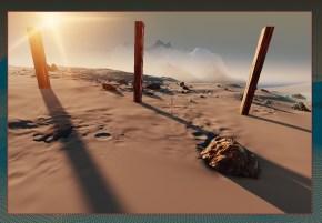 Light in 3D Martian landscape