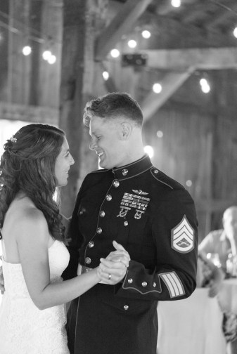 A couple's first dance during a wedding at Pinehall at Eisler Farm.