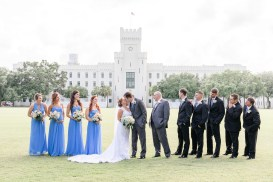 Bridal party during wedding at the Citadel in Charleston SC. Charleston wedding photography by Imagery by Erin