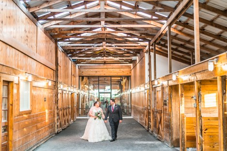 A bride and groom photographed on the grounds of Hermitage Hill Farm in Waynesboro, Virginia.