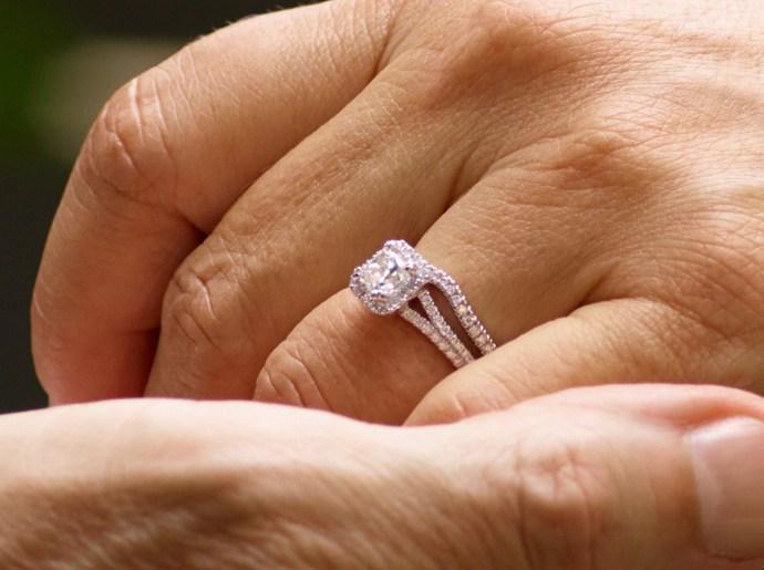 cushion cut engagement rings kay