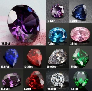 13 Tipos De Safira Artificial Solta Pedra Preciosa Para Anéis ...