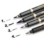 Shodo chinês caligrafia canetas escova desenho escrita pintura ferramenta arte ofício preto 140 milímetros