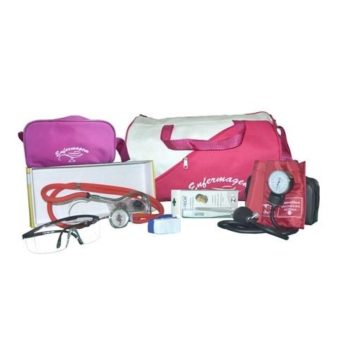 Foto 1 - Kit  De Enfermagem C/ Bolsa Pink - Aparelho Vermelho E Nec. Pink