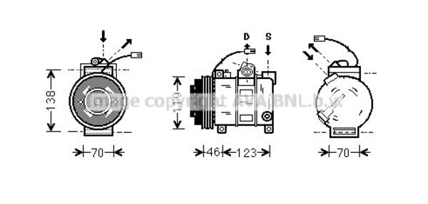 Compresseur pour AUDI A4 2.5 TDI 150cv (8D2, B5) (110kw