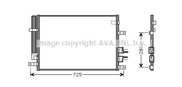 Condenseur / Radiateur de climatisation pour ALFA ROMEO
