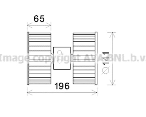 Moteur de ventilateur de chauffage pour BMW 3 316 i 102cv