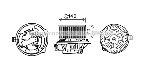 Moteur de ventilateur de chauffage pour CITROËN C5 I 2.0