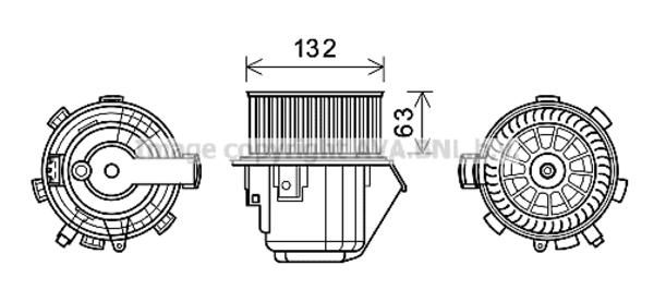 Moteur de ventilateur de chauffage pour PEUGEOT 407 2.0
