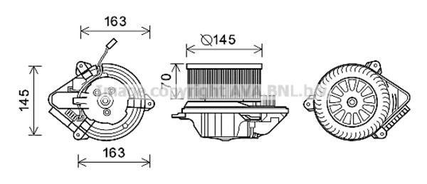 Moteur de ventilateur de chauffage pour CITROËN SAXO 1.5 D