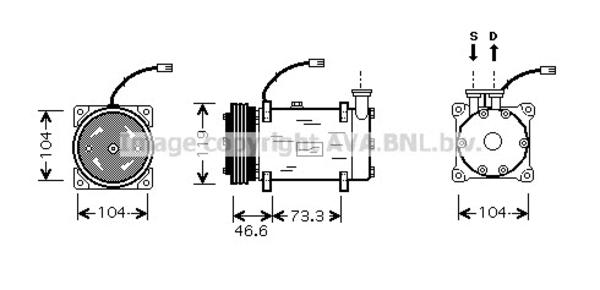 Compresseur pour PEUGEOT 306 3/5 portes 1.6 89cv (7A, 7C